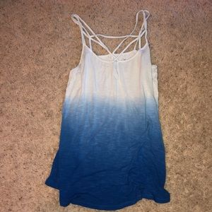 Blue ombré  tank top